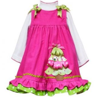Size 2T RRE 48931H FUCHSIA PINK LIME GREEN Holiday Tree