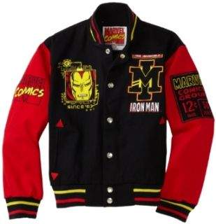 Iron Man 63 Varsity Jacket (Black/Red, Youth X Small
