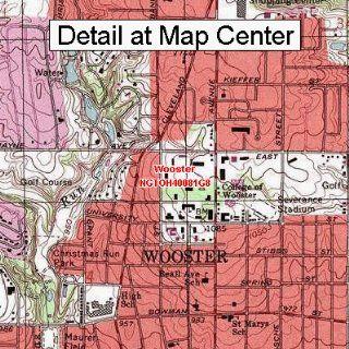 USGS Topographic Quadrangle Map   Wooster, Ohio (Folded