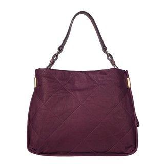 Lanvin Amalia Dark Purple Quilted Leather Shoulder Bag