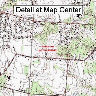 USGS Topographic Quadrangle Map   Bellbrook, Ohio (Folded
