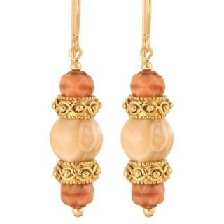 Ardent Designs 14k Yellow Gold Fill Delicia Mother of Pearl Earrings