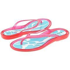 Kate Spade Underwater Pink Jelly/Blue/White Graphics Sandals
