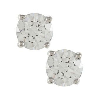 Sunstone 925 Sterling Silver Round cut Solitaire Earrings Made with