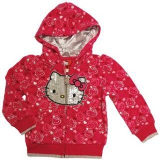 Sanrio Girls 2 4T Hello Kitty Print Zip Hoodie Clothing