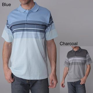 Gioberti by Boston Traveler Mens Striped Polo Shirt