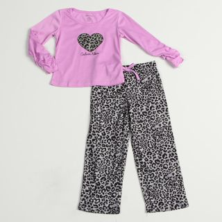 Calvin Klein Girls Purple/ Black Sleepwear Set