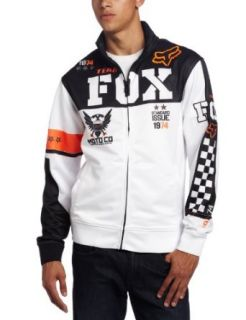 Fox Mens Covert Track Jacket, White, Small Clothing