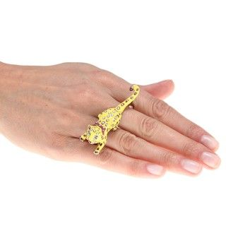 Betsey Johnson Rosetone Tiger Fashion Ring
