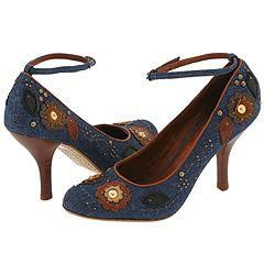 Pelle Moda Wicked Blue/Brown Denim/Kid Pumps/Heels