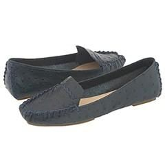 Kate Spade Dandy Blue Ostrich Print Loafers   Size 8.5 M