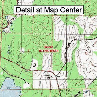 USGS Topographic Quadrangle Map   Bryant, Arkansas (Folded