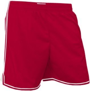 Soffe Juniors Girls Mesh Sport Shorts 601 CARDINAL/WHITE