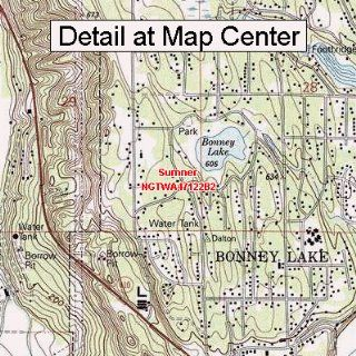 USGS Topographic Quadrangle Map   Sumner, Washington