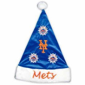 New York METS MLB Baseball Christmas SANTA HAT New Gift