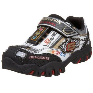 Damager   Race Car Sneaker,White/Black/Red,1.5 M US Little Kid Shoes