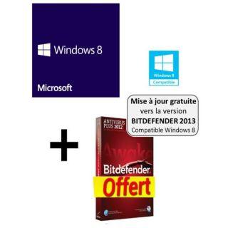 Windows 8 OEM 64 bits + Bitdefender Antivirus   Achat / Vente SYSTÈME