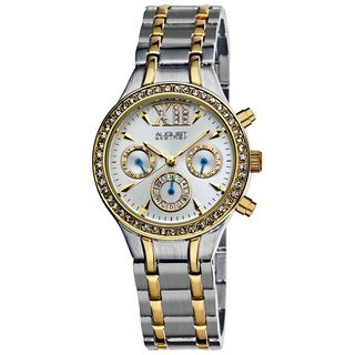 August Steiner Womens Crystal Multifunction Bracelet Watch