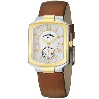 Philip Stein Womens Signature Mother Of Pearl Dial Two Tone Watch