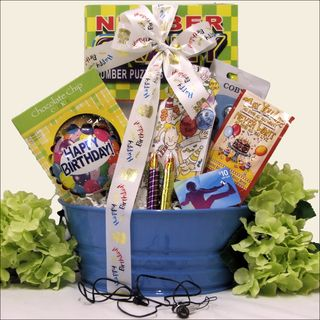 Birthday Tunes Kids Birthday Gift Basket for Boys Ages 9 to 12