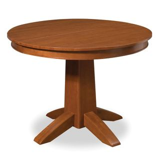 Arts & Crafts Cottage Oak Round Dining Table