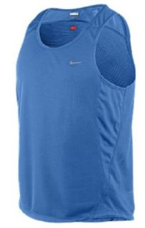 Nike Italy Blue Dri FIT Essentials Mesh Running Singlet