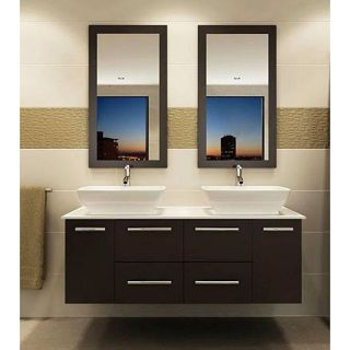 Kokals 60 inch Double Vanity Wall Mount Cabinet with Mirror and