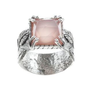 Beverly Hills Charm Silver and Pink Quartz Ring