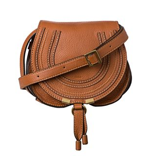 Chloe Marcie Mini Brown Leather Round Cross body Bag