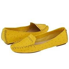 Kate Spade Dandy Sunflower Ostrich Print Loafers   Size 6 M