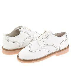 Shoe Be Doo 3823 (Toddler/Youth) White Leather Oxfords