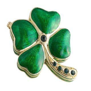 Objet dart Lucky Limerick Four Leaf Clover Trinket Box