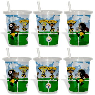 Pittsburgh Steelers Sip and Go Cups (Pack of 6)