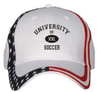 UNIVERSITY OF XXL SOCCER USA Flag Hat / Baseball Cap