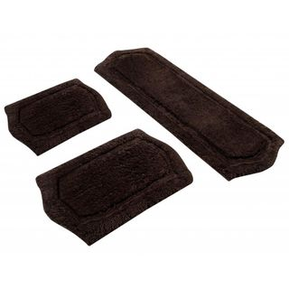 piece Chocolate Memory Foam Bath Rug Set