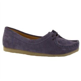 Clarks Original Wallabee Chic Blue Suede Womens Shoes Size 9 US Shoes
