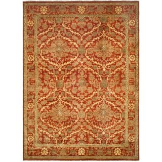 Pakistani Hand knotted Peshawar Red Vegetable Dye Wool Rug (8 x 10