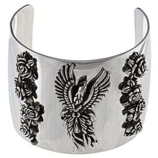 Ed Hardy High polish Stainless steel Wrist Cuff with Phoenix Design