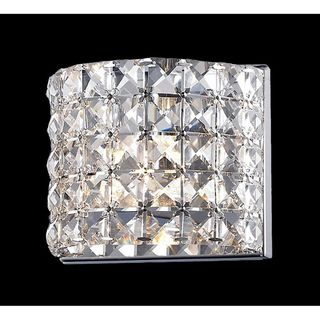 Panache Chrome finished Crystal Light Fixture