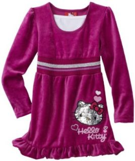 Hello Kitty Girls 2 6X Mini Sequins on Velour Dress, Wild