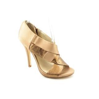 Michael Kors Womens Elena Peep Basic Textile Dress Shoes