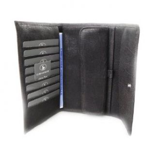 Wallet + checkbook holder leather Frandi brown cosmos