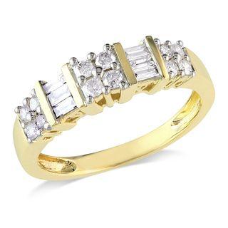 Miadora 14k Yellow Gold 1/2ct TDW Diamond Ring