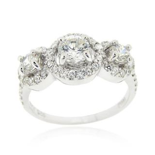 Icz Stonez Sterling Silver Cubic Zirconia Engagement Ring Today $19