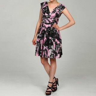 Jessica Simpson Womens V neck Vintage Dress