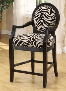 Zebra Stripe 24 inch Counter Stool