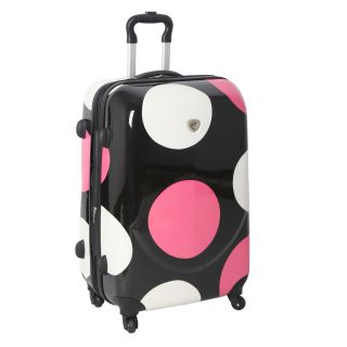 International Traveller Pink Shiny Large Dots 28 inch Hardside Spinner