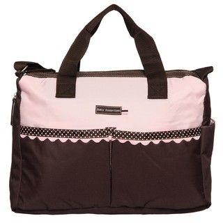 Baby Essentials Pink Dots Diaper Bag