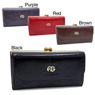 Anais Gvani Womens Genuine Italian Leather Tri fold Wallet