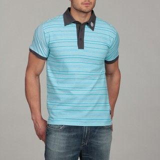 English Laundry Mens Striped Polo Shirt